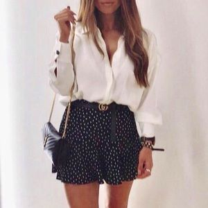 NEW zara skort polka dot